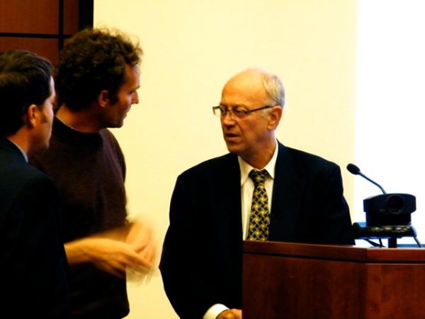 Michael Szuberla from Toledo Grows talking with Dr. Wayne Roberts.